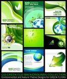 Vai a coleção verde dos fundos de Eco Imagens de Stock