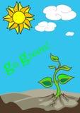 Vai a ilustração verde Fotos de Stock Royalty Free