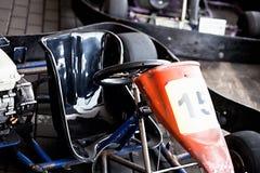 Vai-kart o carro estacionado foto de stock