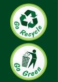 Vai o ícone verde Imagem de Stock Royalty Free