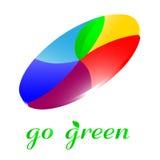 Vai o ícone verde Fotografia de Stock Royalty Free