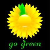 Vai o ícone verde Imagens de Stock Royalty Free