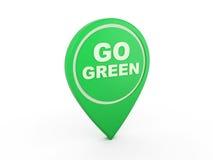 Vai o ícone verde do conceito - imagem da rendição 3D Foto de Stock Royalty Free