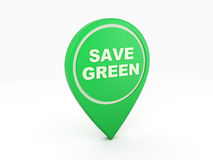 Vai o ícone verde do conceito - imagem da rendição 3D Imagem de Stock Royalty Free