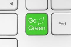 Vai o botão verde no teclado ilustração do vetor