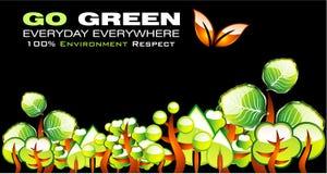 Vai o cartão verde do ambiente Fotos de Stock