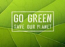 Vai o cartaz verde, vetor Imagem de Stock Royalty Free
