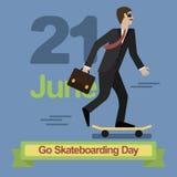 Vai o dia Skateboarding Imagem de Stock