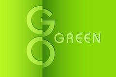 Vai o fundo verde Imagem de Stock Royalty Free