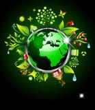 Vai o fundo verde da ecologia Foto de Stock