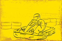 Vai o kart Fotos de Stock Royalty Free