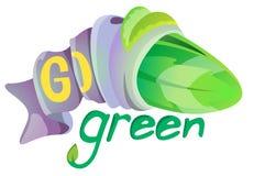 Vai o símbolo verde Foto de Stock Royalty Free
