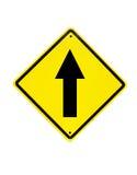 Vai o sinal de tráfego reto Fotos de Stock