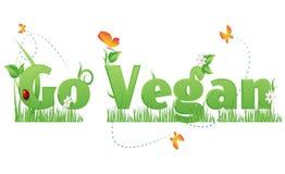 Vai o texto do Vegan Imagens de Stock