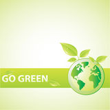 Vai o verde Fotografia de Stock