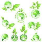 Vai o verde, mapas da terra do planeta Imagens de Stock