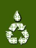 Vai o verde recicl o fundo Imagens de Stock