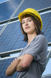 Vai para o photovoltaics Fotografia de Stock Royalty Free