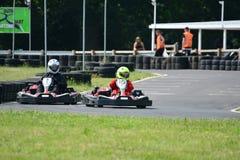 Vai a raça de Karting Imagens de Stock Royalty Free