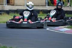 Vai a raça de Karting Fotografia de Stock