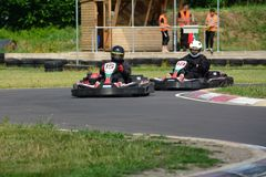 Vai a raça de Karting Imagens de Stock