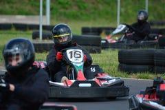 Vai a raça de Karting Fotografia de Stock Royalty Free