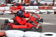 Vai a raça do carro Fotos de Stock Royalty Free
