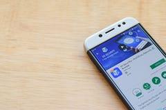VAI a segurança - AntiVirus, Applock, aplicação do colaborador do impulsionador na tela de Smartphone imagens de stock royalty free