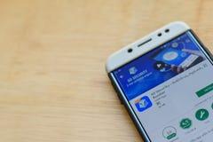 : VAI a segurança - AntiVirus, Applock, aplicação do colaborador do impulsionador na tela de Smartphone fotos de stock
