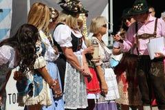 VAIL, КОЛОРАДО, США - 10-ое сентября 2016: Ежегодное торжество немецких культуры, еды и питья Стоковое Изображение
