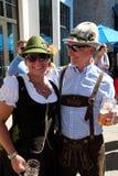 VAIL, КОЛОРАДО, США - 10-ое сентября 2016: Ежегодное торжество немецких культуры, еды и питья стоковые фотографии rf