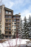 Vail Building 5 of 5. An apartment building an some trees covered in snow in vail colorado,USA Stock Photography
