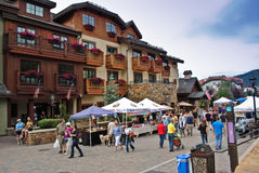 Vail, Colorado. Is a popular resort town in the United States. It's known for it's skiing in the winter time, and for abundant outdoor activities in the summer Royalty Free Stock Photo