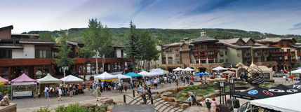 Vail, Colorado. Is a popular resort town in the United States. It's known for it's skiing in the winter time, and for abundant outdoor activities in the summer royalty free stock photography