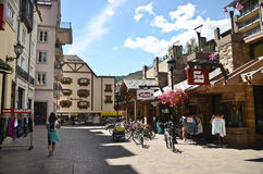 Vail, Colorado. Streets of Vail, Coloroado.Vail is a popular resort town in the United States Stock Photo