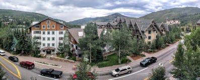 Vail Colorado. Panoramic view of Vail Colorado Royalty Free Stock Image