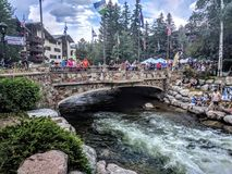 Vail Colorado. People enjoying a nice day in Vail Colorado Royalty Free Stock Photo