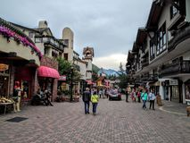 Vail Colorado. People walking on the streets of Vail Colorado Royalty Free Stock Image