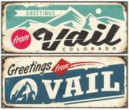 Vail Colorado retro souvenir from winter holiday destination stock illustration
