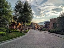 Vail Colorado. Sunset time in Vail Colorado Stock Images