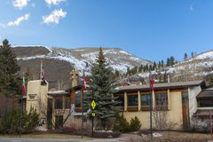 Vail, Colorado Town Hall Building with Clear Skies During the Day royalty free stock images