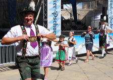 VAIL, COLORADO, USA - 10. September 2016: Jahresfeier der deutschen Kultur, des Lebensmittels und des Getränks Stockfoto