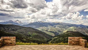 Vail Mountain. Bridal Location at top of Vail Mountain Stock Images
