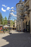 Vail Shops. An image of typical shopping area in Vail, CO Royalty Free Stock Photography