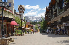 Vail Street. An image of a spring street scene in Vail, CO Royalty Free Stock Image
