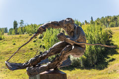 Vail, USA - September 10, 2015: Sculpture of ski racer The Edge by Gail Folwell in Vail, Colorado USA. Stock Images