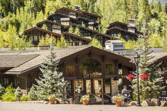 Vail, USA - September 10, 2015: Swiss Style Decorated Building for Ski Lift in Vail, Colorado Stock Images