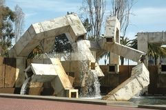 Vaillancourt Fountain. In San Francisco, California on a beautiful sunny day in march 2008 stock photos