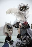 A vain mask at the Venice carnival stock images