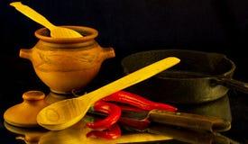 Vainas de la pimienta roja caliente Imagen de archivo libre de regalías